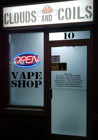Cloud and coil vape shop
