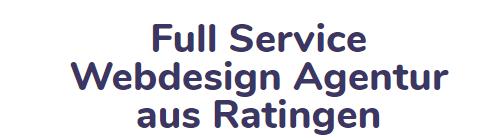 Full Service WebdesignAgenturaus Ratingen
