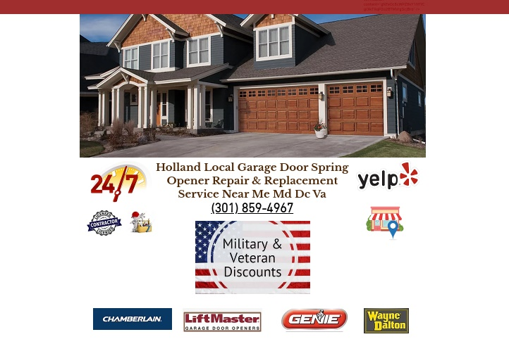 Holland Local Garage Door Spring Opener Repair & Replacement Service Near Me Md Dc Va